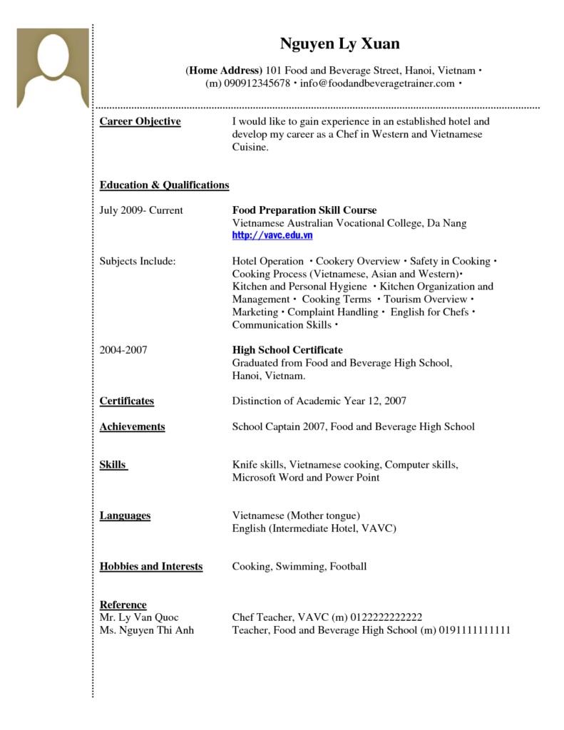 Contoh CV Bahasa Inggris Tanpa Pengalaman