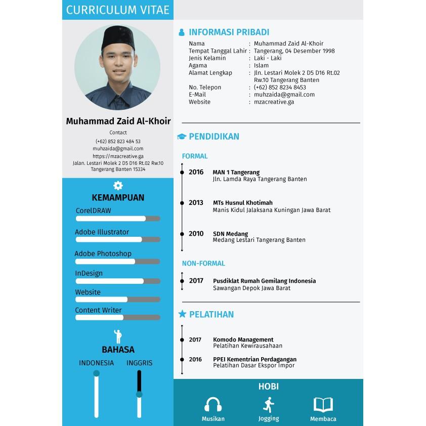 Contoh CV Fresh Graduate SMA SMK
