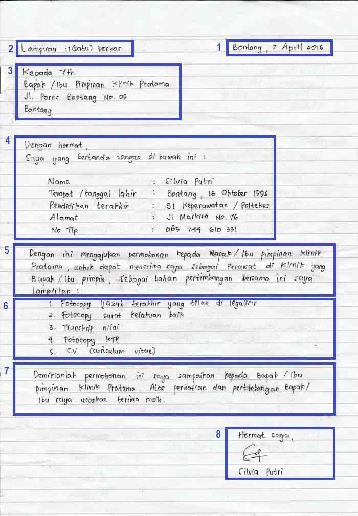 Contoh CV Fresh Graduate Tulis Tangan
