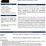 Contoh CV Guru dalam Bahasa Inggris