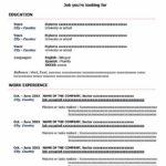 Contoh CV Lamaran Kerja Bahasa Inggris