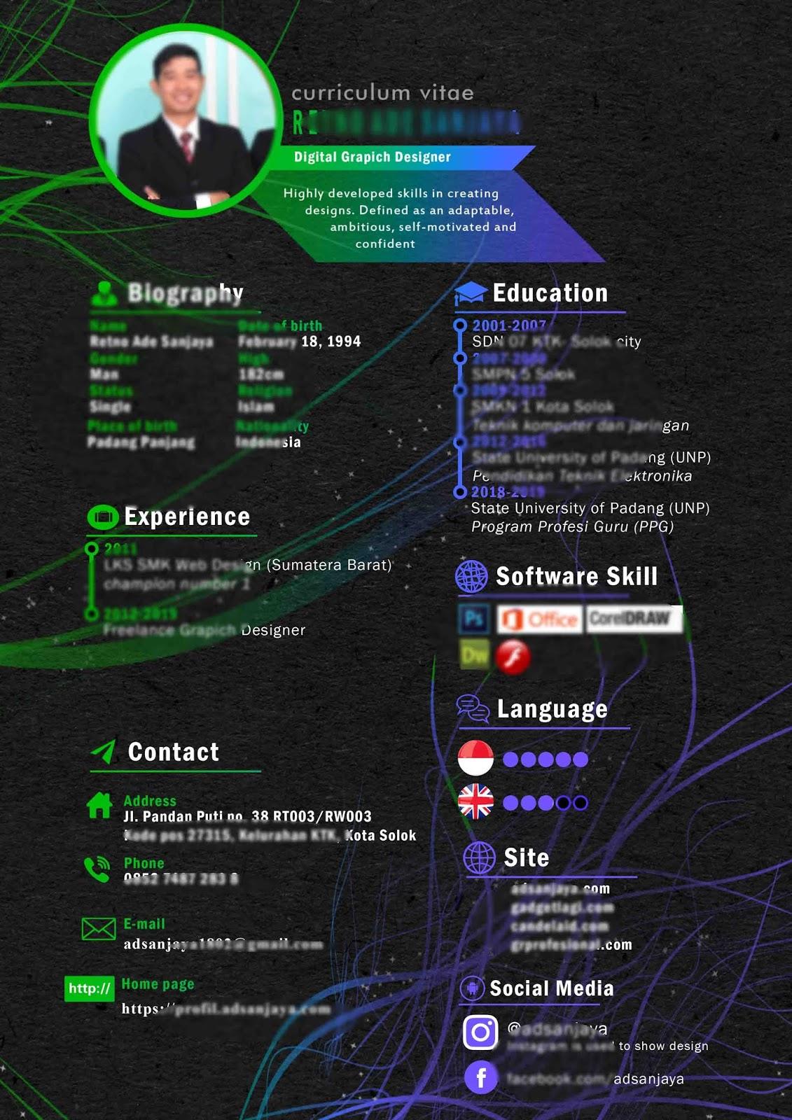Contoh CV Lamaran Kerja yang Bagus