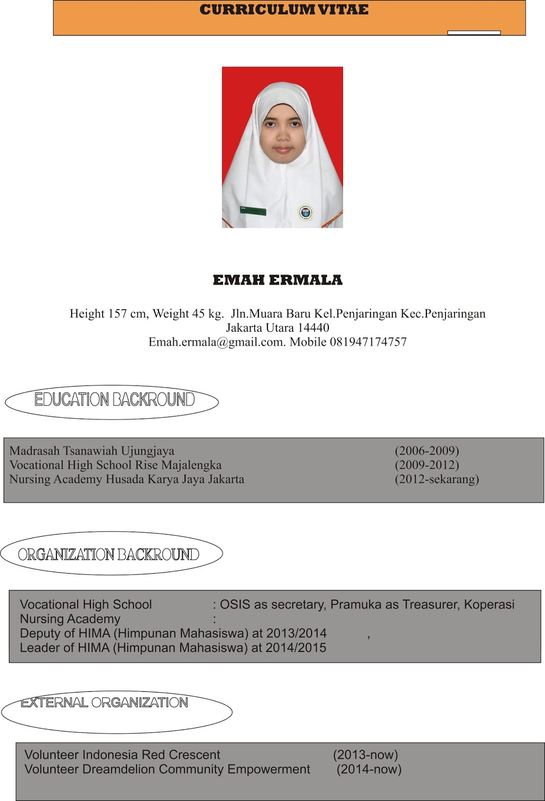 Contoh Cv Perawat Fresh Graduate