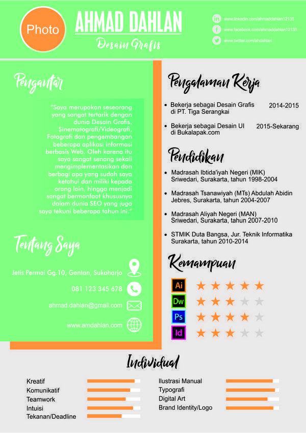 Desain Contoh CV Lamaran Kerja