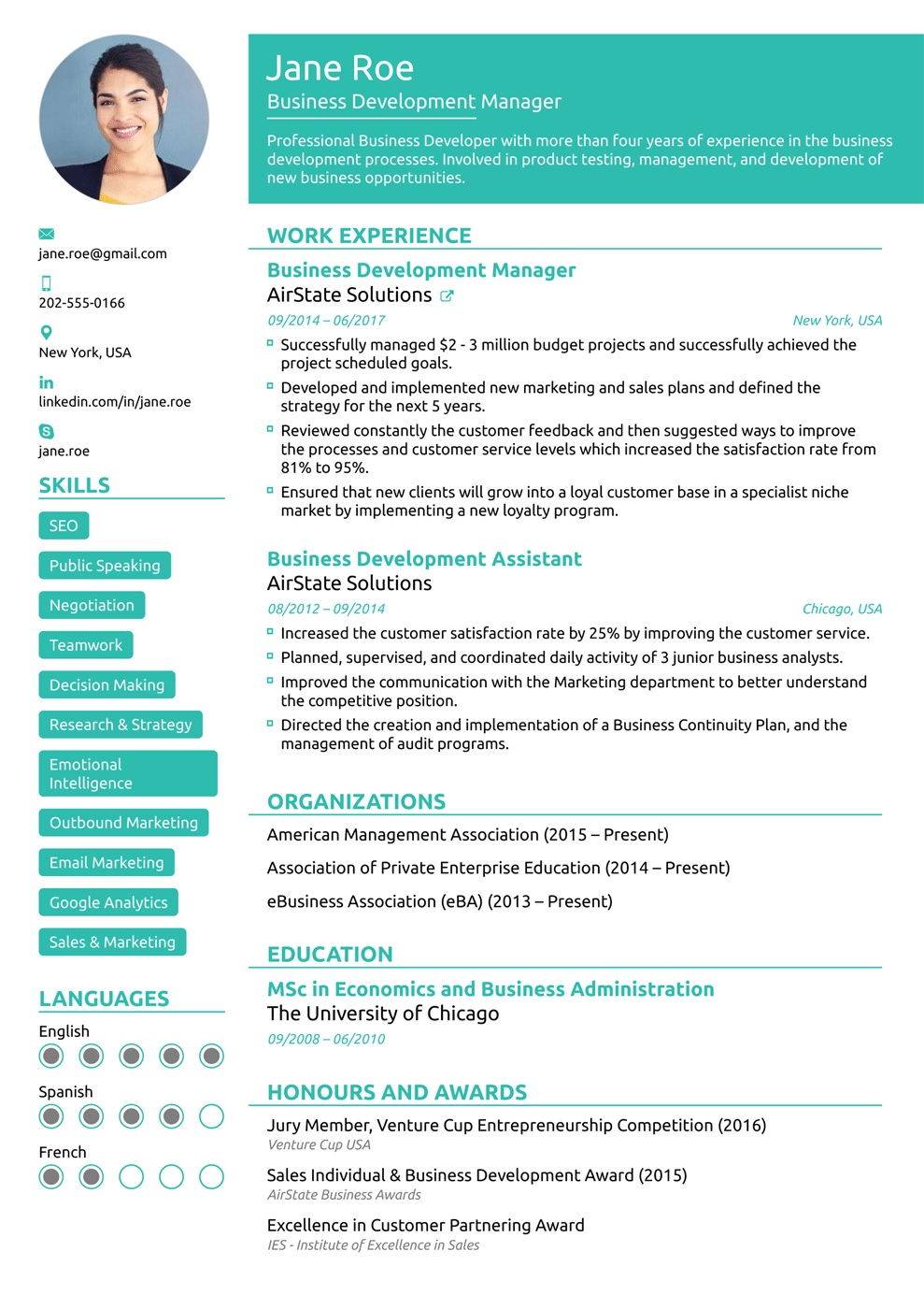 Gambar CV Lamaran Kerja