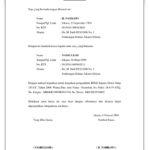 Contoh Surat Kuasa Pengambilan BPKB Sederhana