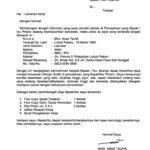Contoh Surat Lamaran kerja di PT KAI