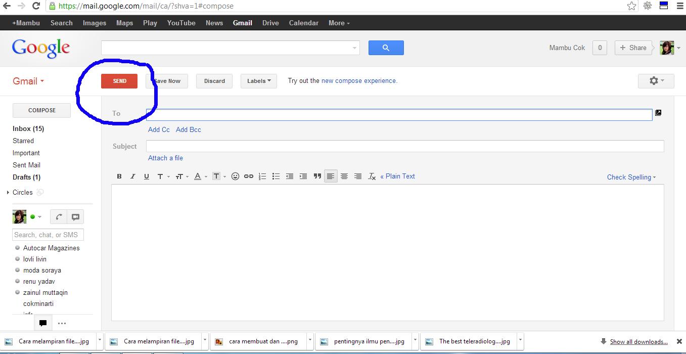 Memerhatikan Bagian Subjek Email