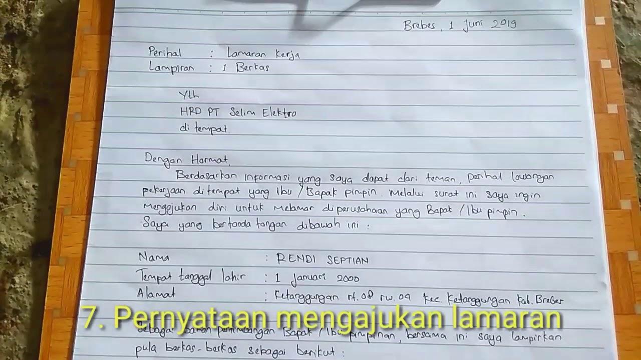 Tips Membuat Contoh Surat Lamaran Kerja Tulis Tangan