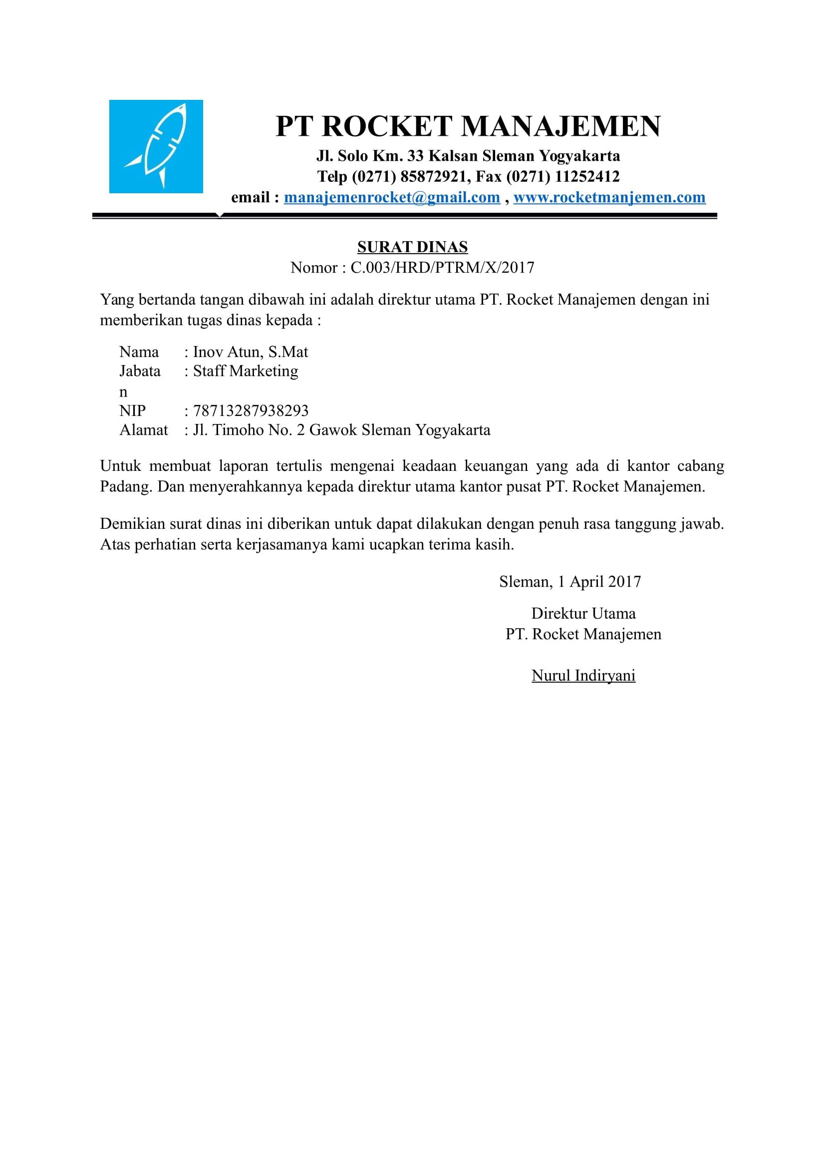 Surat Dinas Perusahaan