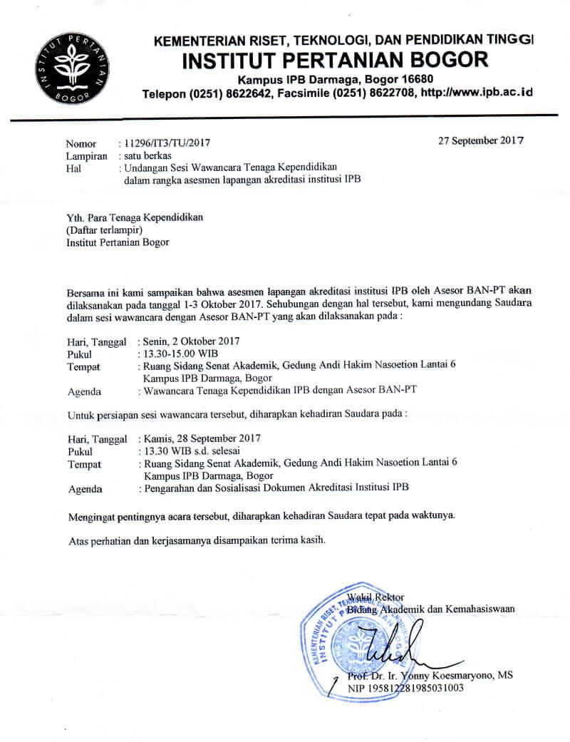 Surat Dinas Universitas