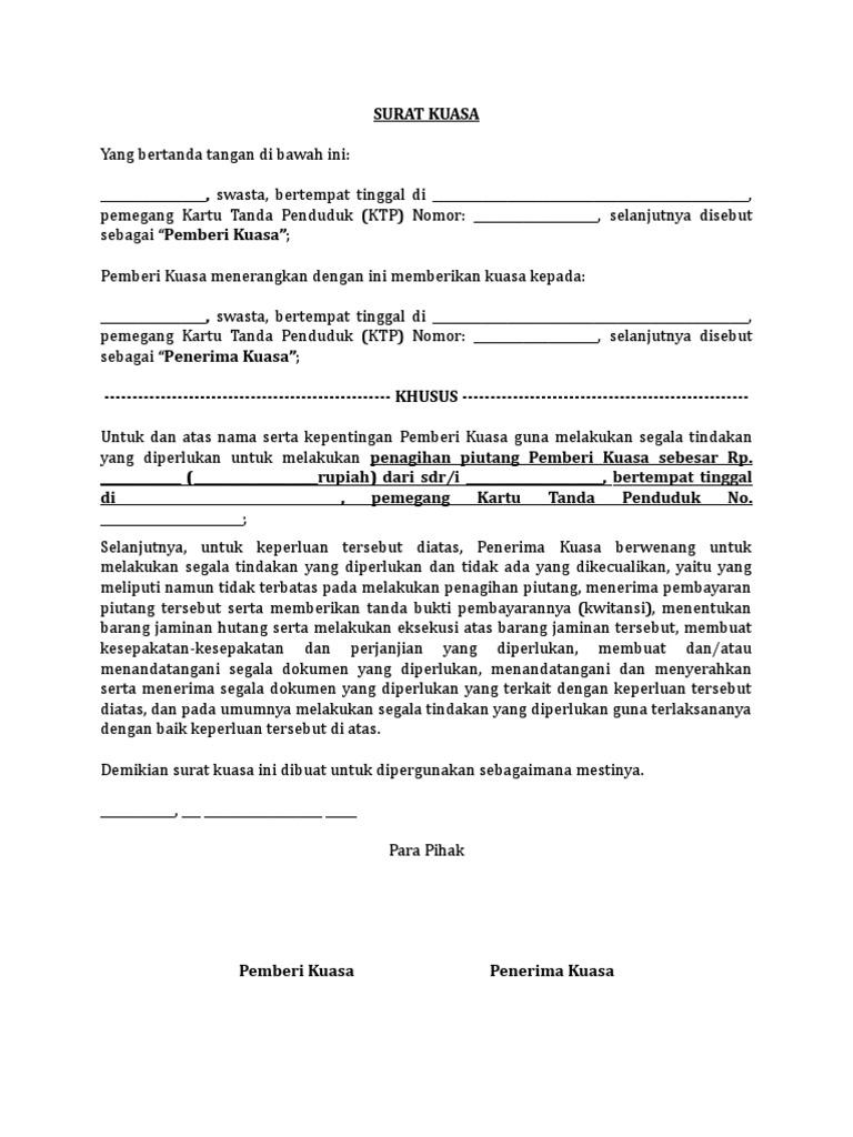 Surat Pengunduran Diri Karyawan