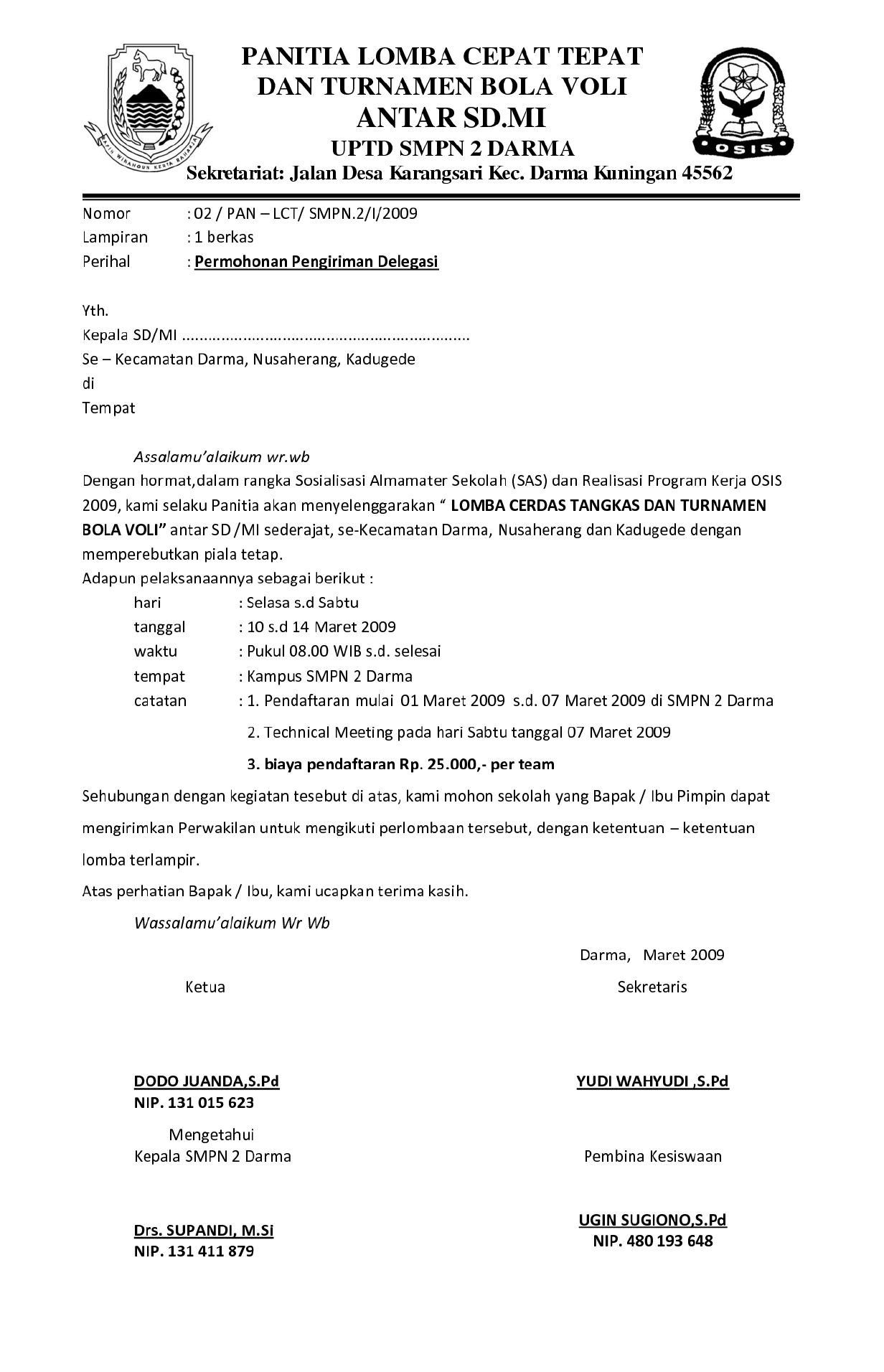 1. Contoh Surat Pemberitahuan Kegiatan 2