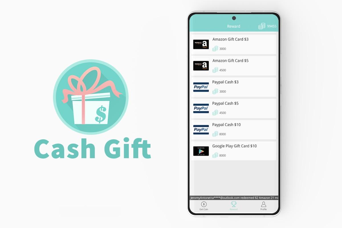 Aplikasi Penghasil Uang Cash Gift