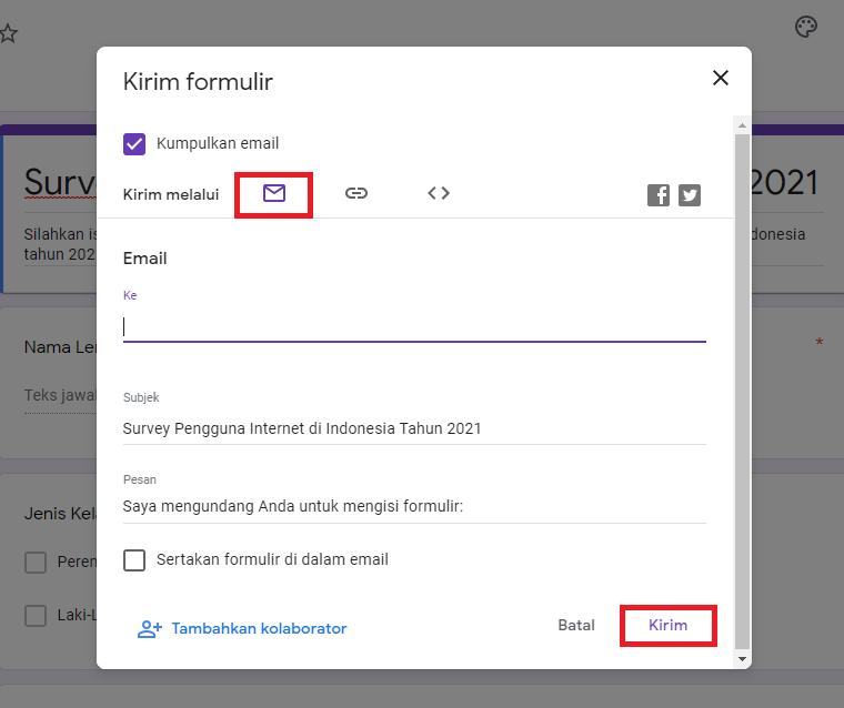 Cara Membagikan Google Form 2