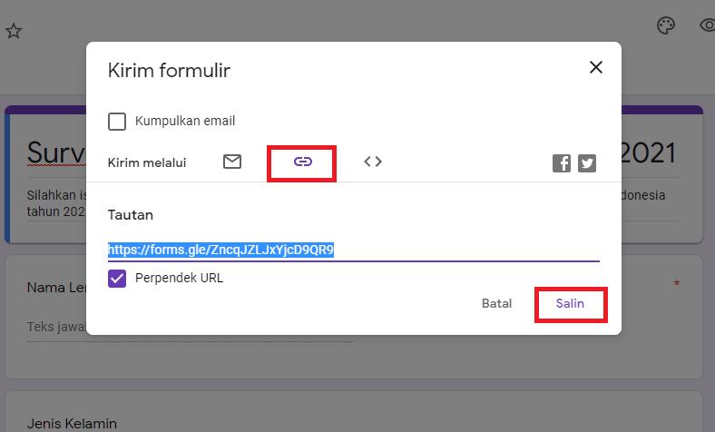 Cara Membagikan Google Form 3