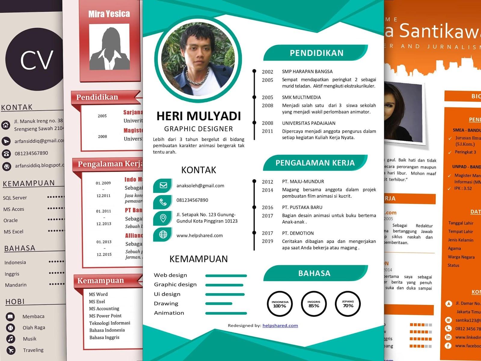 Cara Membuat CV yang Baik dan Benar