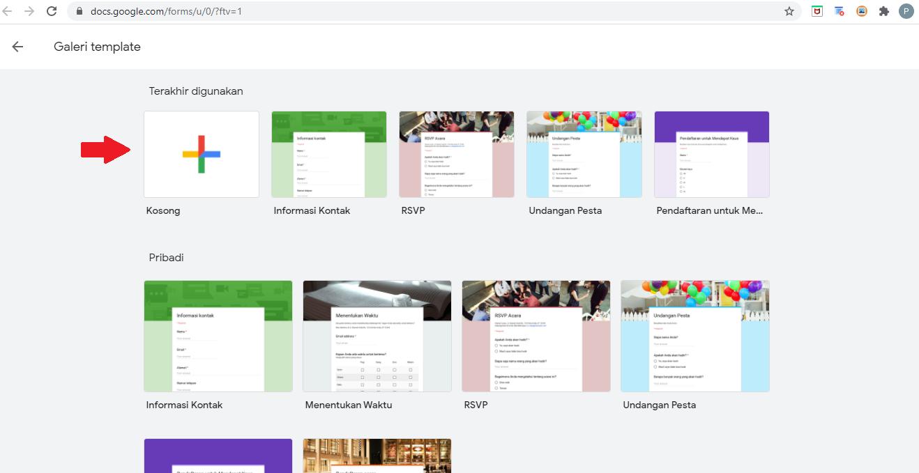Cara Membuat Google Form di PC & Laptop 1