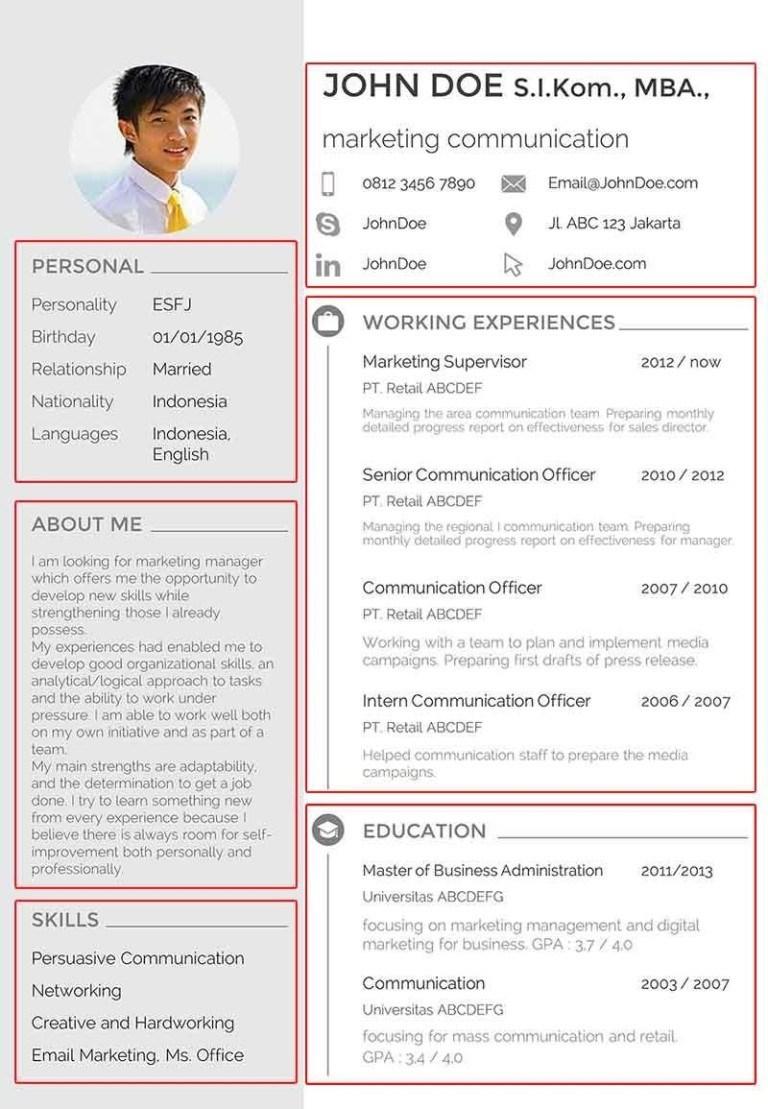 Contoh CV Semi Formal