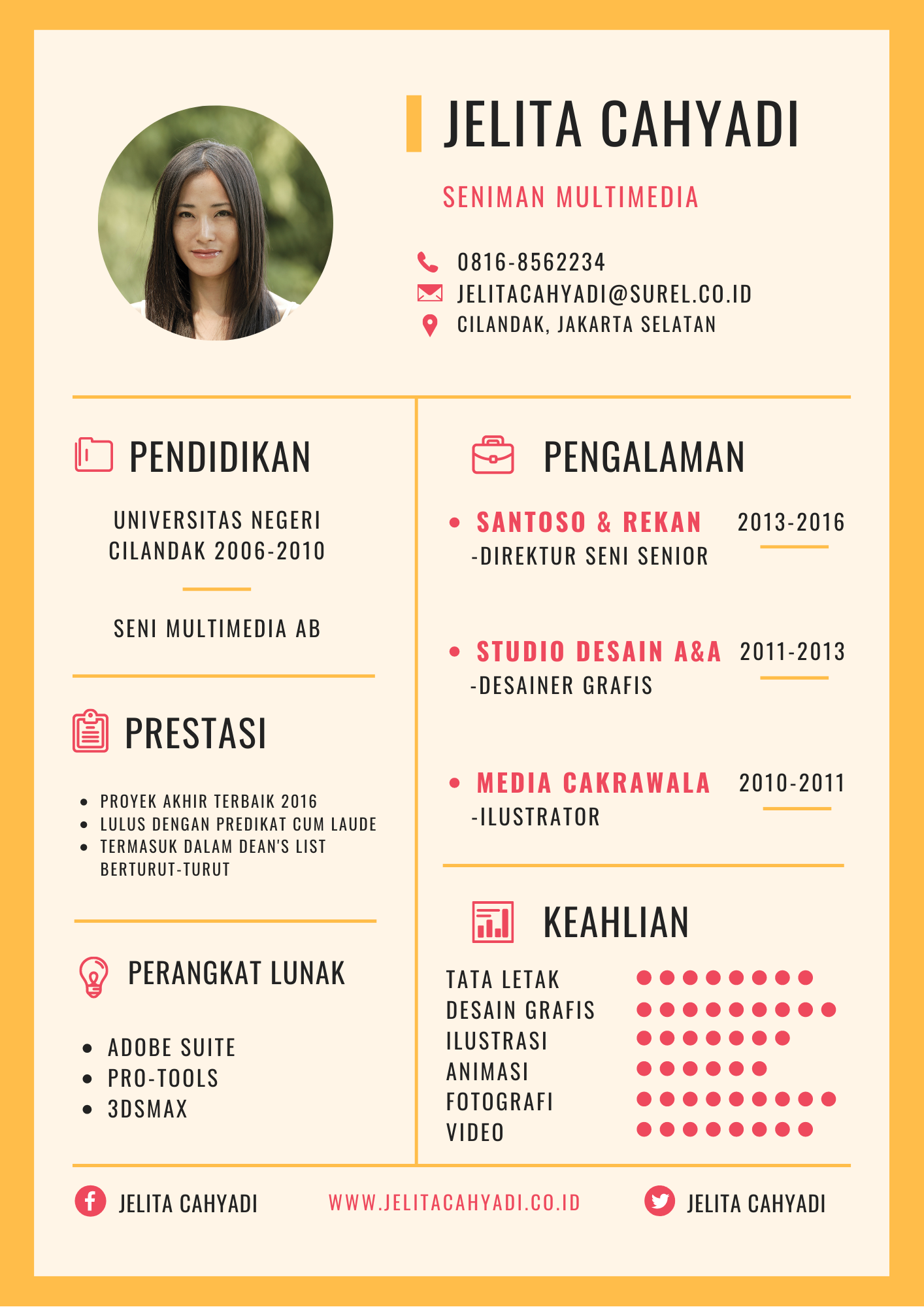Contoh CV Simple dan Modern