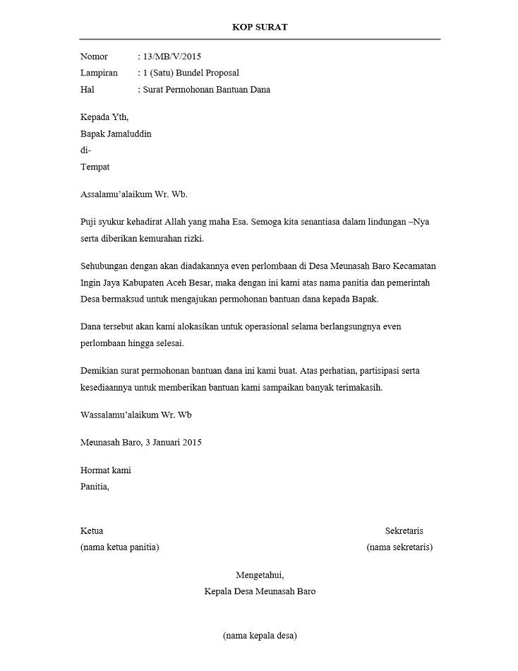 Contoh Surat Pengantar ProposalContoh Surat Pengantar Proposal