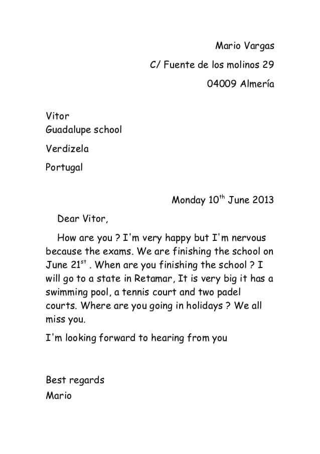 Contoh Surat Pribadi dengan Bahasa Inggris