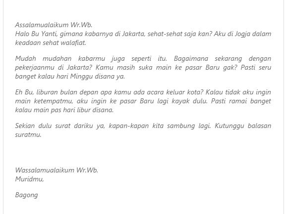 Contoh Surat Pribadi untuk Guru