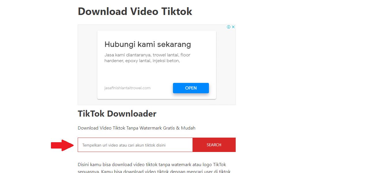 Menggunakan TikTok Downloader by Teknolagi 1