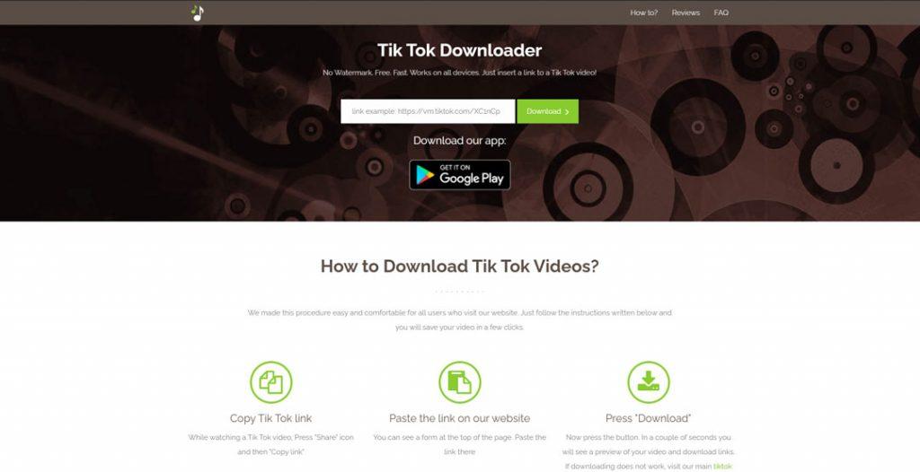 Menggunakan Tiktokdownload.online
