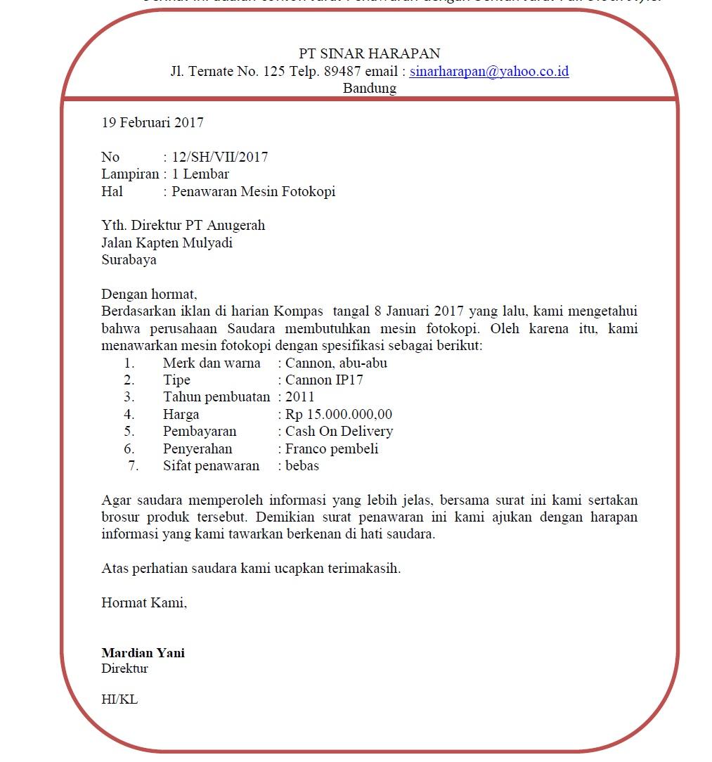 Surat Penawaran Mesin Fotocopy