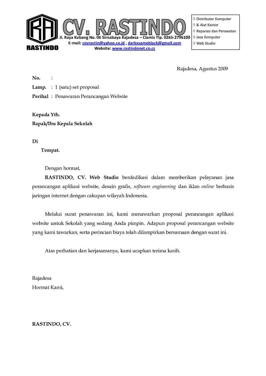 Surat Penawaran Perancangan Website
