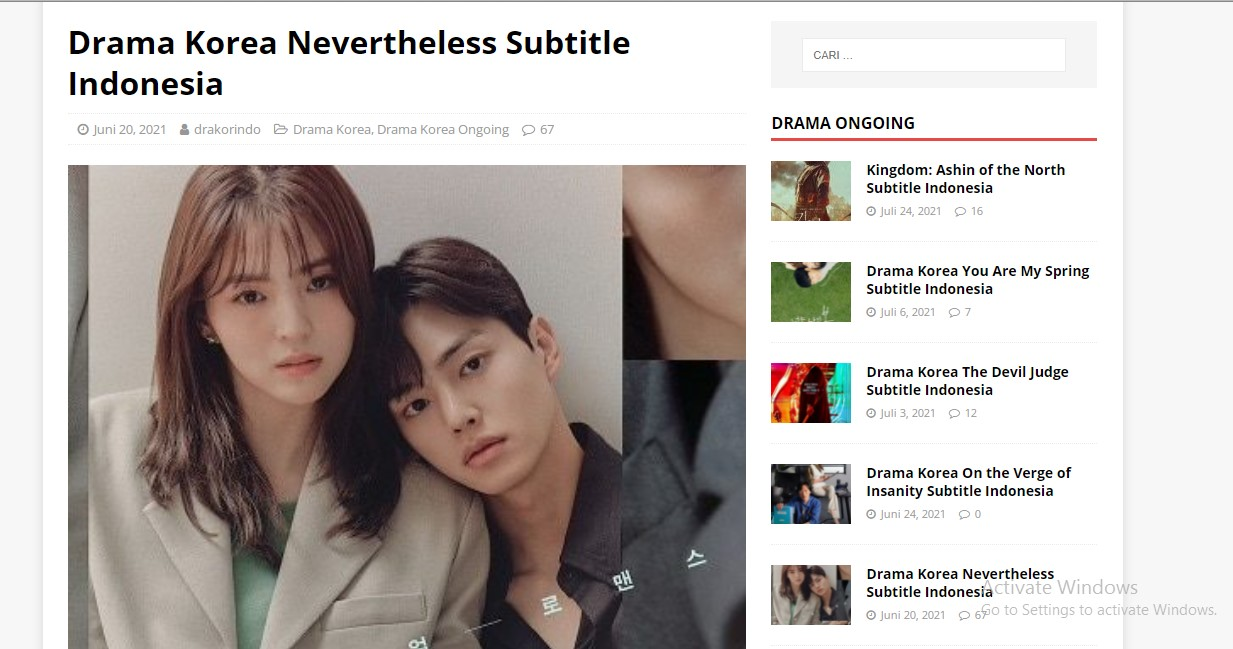 Cara Download Drama Korea via Drakorindo
