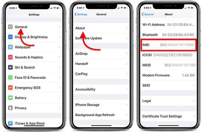 Cek IMEI iPhone di Sistem Pengaturan