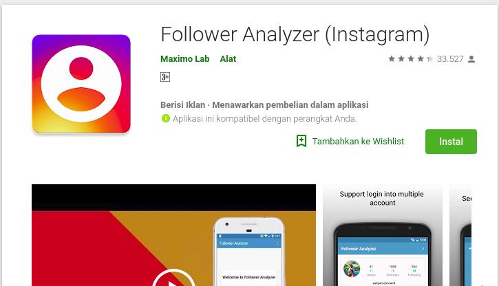 Follower Anlyzer for Instagram