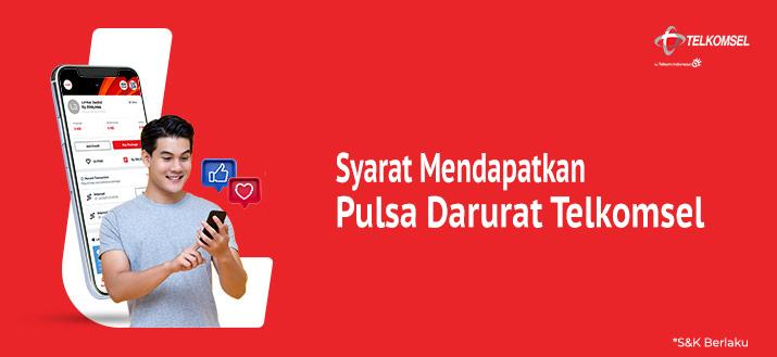 Syarat Mendapat Pulsa Darurat Telkomsel