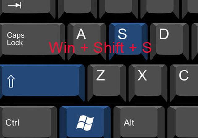 Tombol Windows + Shift + S