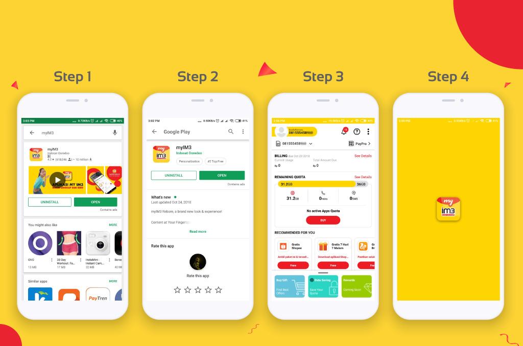 Cara Cek Kuota Indosat via Aplikasi