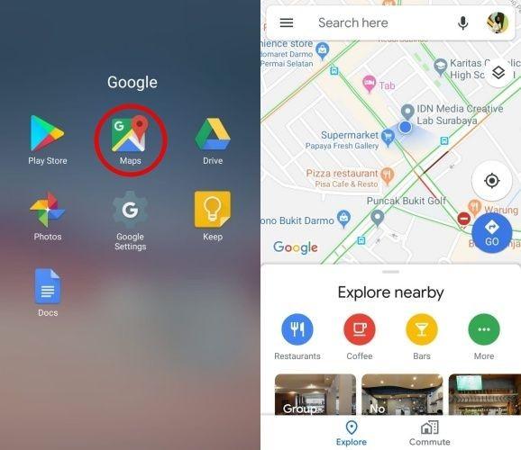 Melalui Google Maps