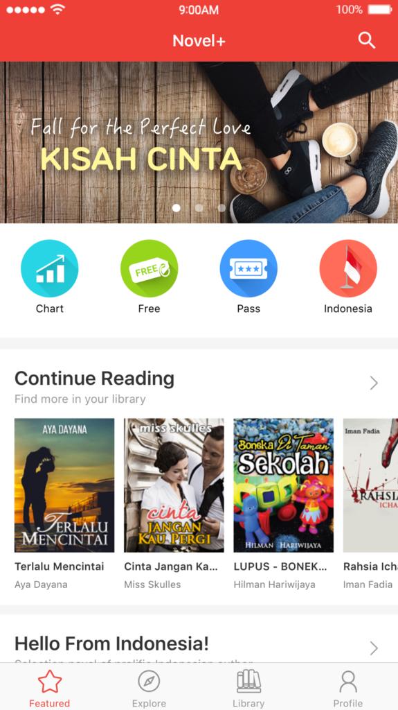 NovelPlus (Aplikasi Baca Novel)