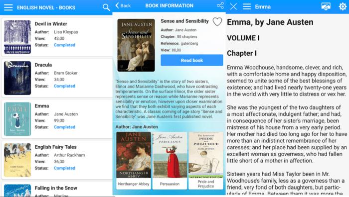 aplikasi English Novel Book
