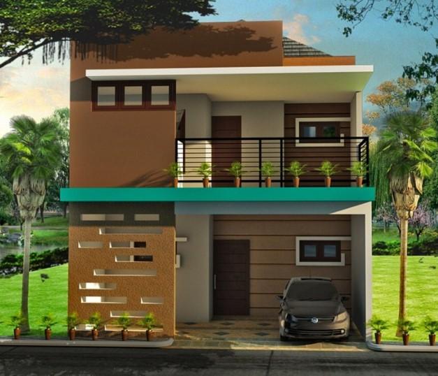 Contoh Desain Rumah Minimalis 2 Lantai Ukuran 6x12
