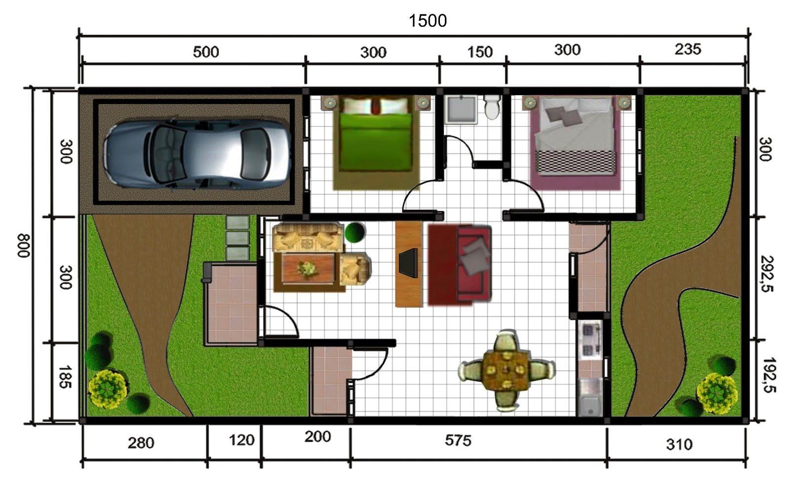 Contoh Desain Rumah Type 60