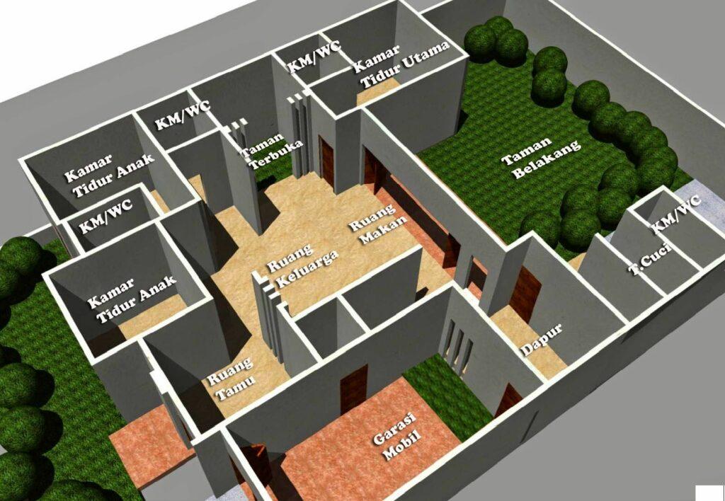 Denah Gambar Rumah Sederhana Tapi Mewah