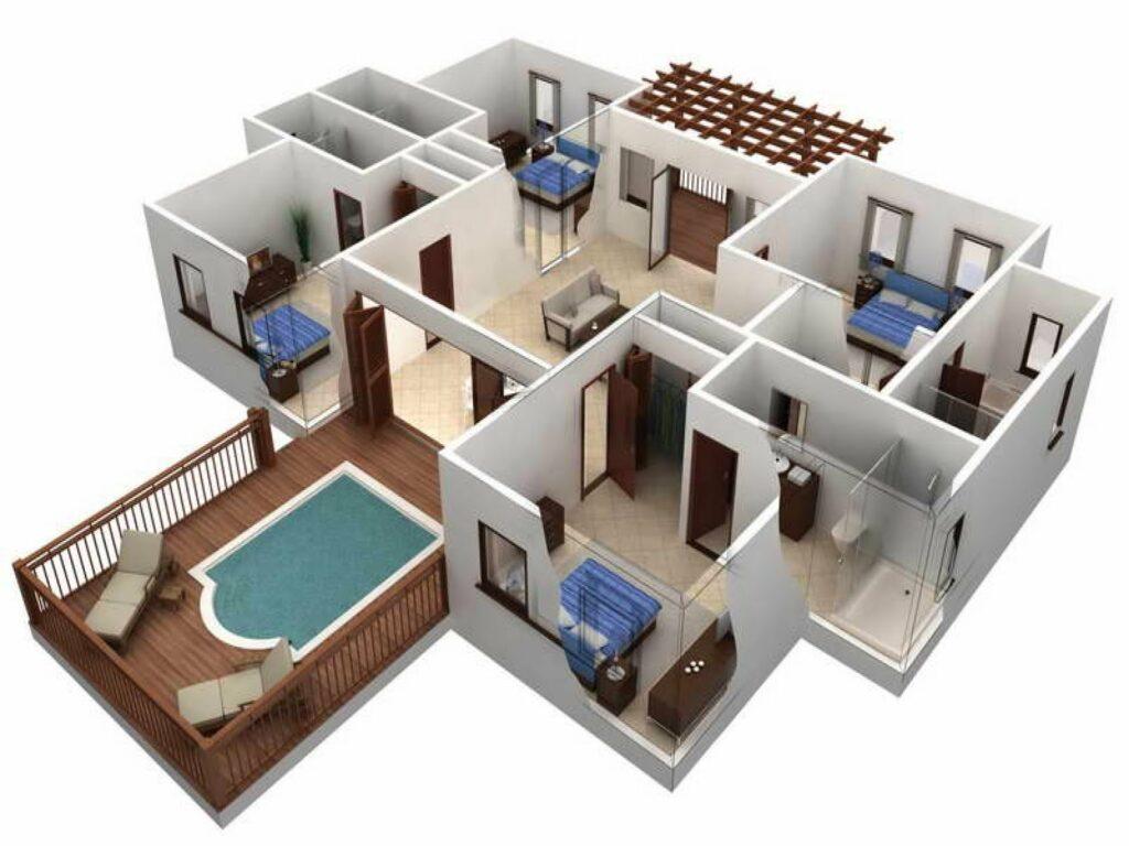 Denah Model Rumah Sederhana Tapi Mewah