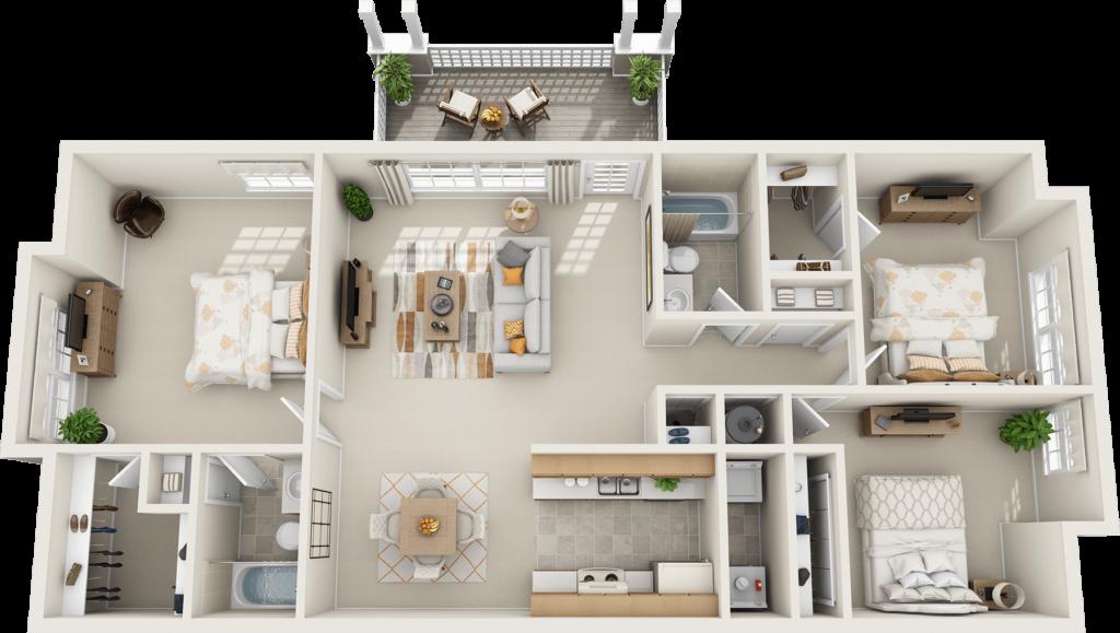 Denah Rumah Sederhana Tapi Mewah 1 Lantai