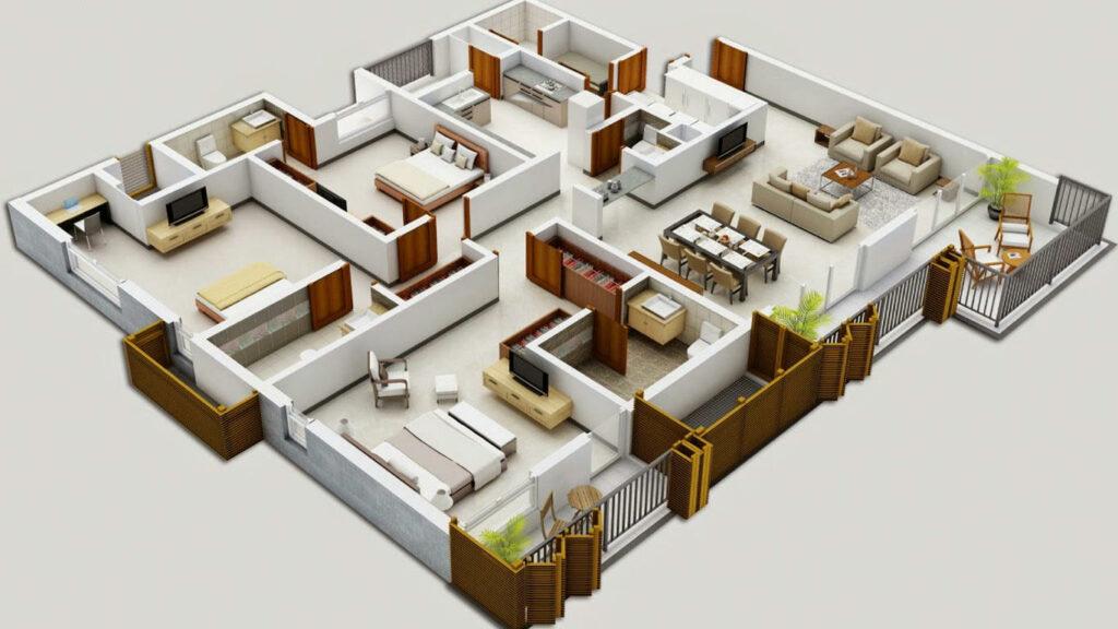 Denah Rumah Sederhana Tapi Mewah Minimalis