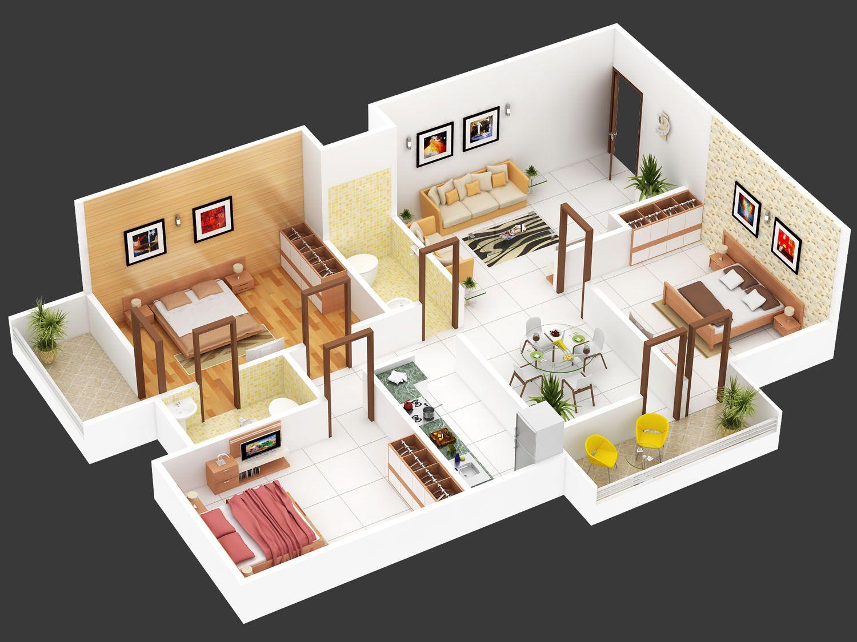 Denah Rumah Type 45 1 Lantai