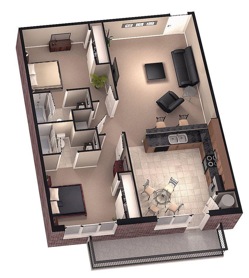 Denah Rumah Type 45 Lengkap