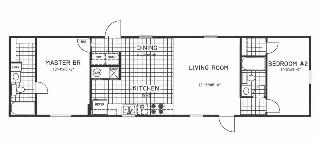 Desain Denah Rumah Minimalis 2 Kamar