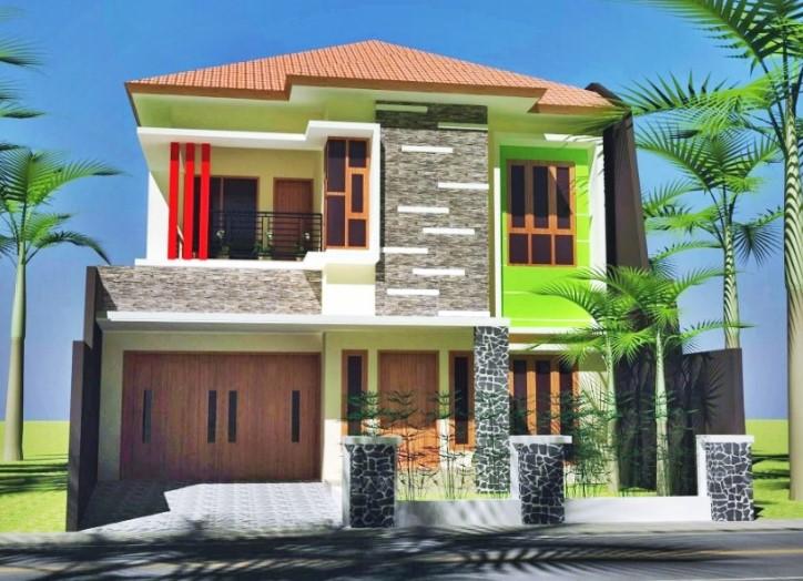 Desain Rumah Minimalis 2 Lantai Ukuran 6x12